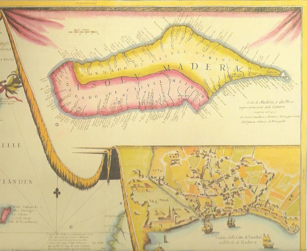 Mapa antiguo de Madeira.