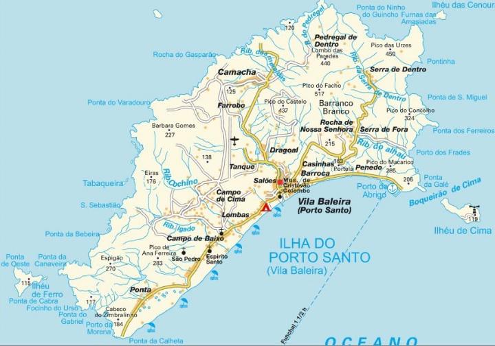Islas De Portugal Mapa.Mapas De Madeira Guia Isla Madeira Portugal