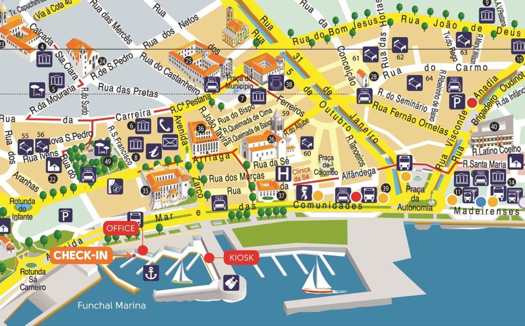 Mapa Turistico Lisboa Pdf.Mapa De Funchal Guia Isla Madeira Portugal