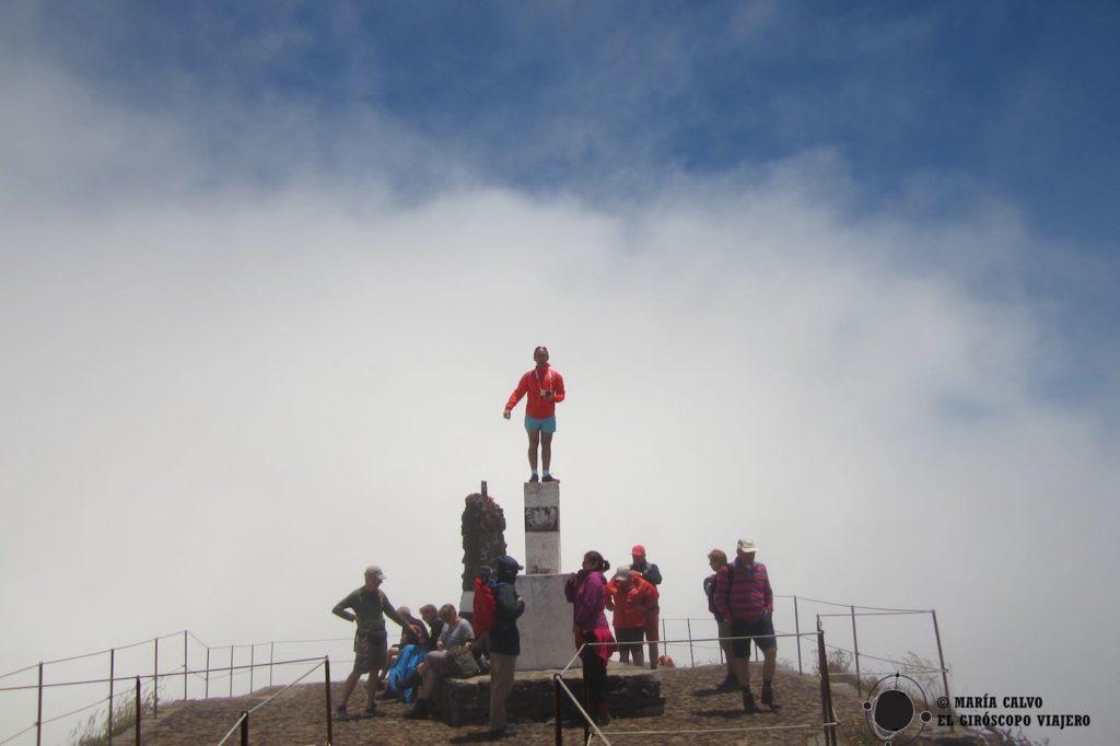 A veces, en el Pico Ruivo puedes encontrarte con niebla...