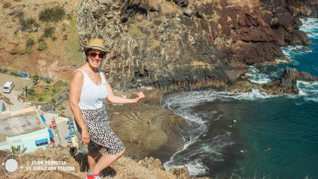 Vistas de la playa de Caniçal: Prainha
